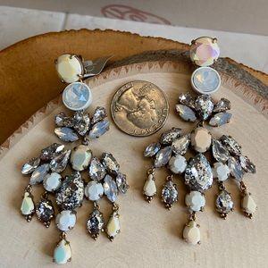 🔥NWT JCREW White Brûlée CrackledGlazed Earrings